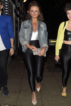 Retro glow: Emily Atack was dressed to impress as she attended her pal Laura Whitmore's 19...