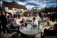 Gorgeous courtyard setting at Hampshire's Rivervale Barn -