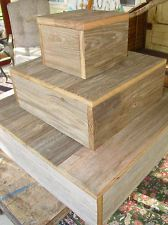 3 Country Barn wood Wedding Cake Cupcake Plate Stand stands Platter Rustic