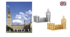 3D Metallic DIY Puzzle Stainless Gold Silver UK London Big Ben Elizabeth Tower | eBay