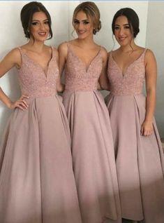 A-line bridesmaid dress dusty rose bridesmaid dress