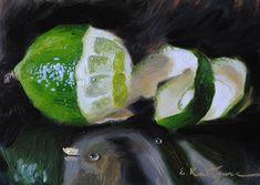 "Daily+Paintworks+-+""Lime""+-+Original+Fine+Art+for+Sale+-+©+Elena+Katsyura"