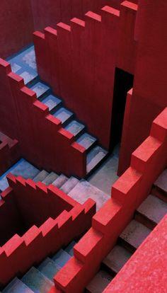 La Muralla Roja, Architecture