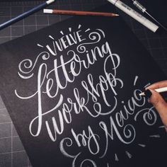 lettering workshop by maia. Creative Lettering, Cool Lettering, Types Of Lettering, Brush Lettering, Hand Lettering, Lettering Ideas, Typography Layout, Typography Quotes, Typography Letters