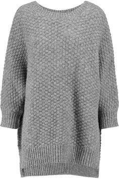 MICHAEL KORS Basketweave merino wool, cashmere and silk-blend sweater. #michaelkors #cloth #sweater