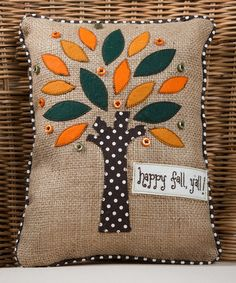 Loving this 'Happy Fall' Pillow on #zulily! #zulilyfinds