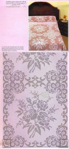Kira scheme crochet: Scheme crochet no. Filet Crochet Charts, Crochet Cross, Tunisian Crochet, Crochet Motif, Crochet Doilies, Crochet Lace, Crochet Stitches, Crochet Patterns, Crochet Bedspread
