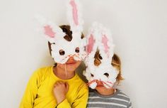 Homemade Easter bunny masks for kids by Babyccino Kids