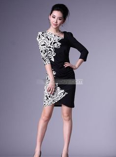 New Style Casual Floral Imprint Sheath Dress : Tidebuy.com