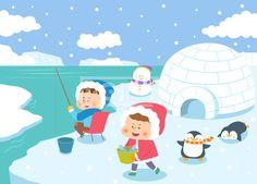 SILL163, 겨울방학, 벡터, 에프지아이, 사람, 캐릭터, 어린이, 생활, 라이프, 친구, 교육, 가족, 겨울, 방학, 남자, 여자, 2인…