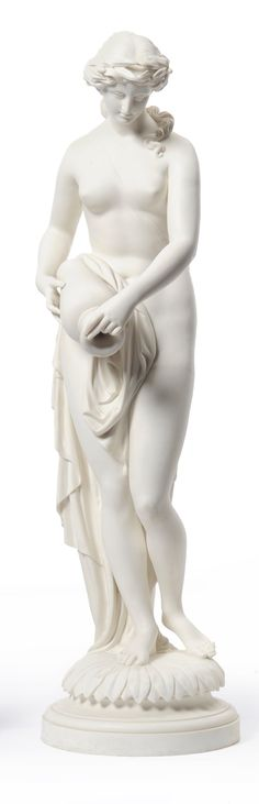 Minton Parian Figure of a Water Nymph