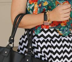 Floral, chevron and a fabulous Bronzo Italia watch styled by TF Diaries