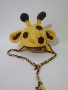 Giraffe Earflap Hat by LittleMommaBoutique on Etsy, $10.00