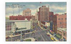 MI 1956 post card Monroe Ave View in Grand Rapids Michigan    ##33