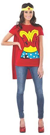 Wonder Woman T-Shirt With Cape And Headband Costume