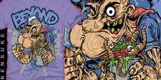 """BEYOND-Pappy Eyes"" t-shirt design by KENSUKE"
