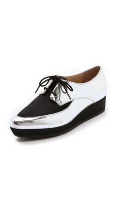 Loeffler Randall Calla Mirrored Platform Oxfords.  They're sold out, but I'm happy they exist in the world!