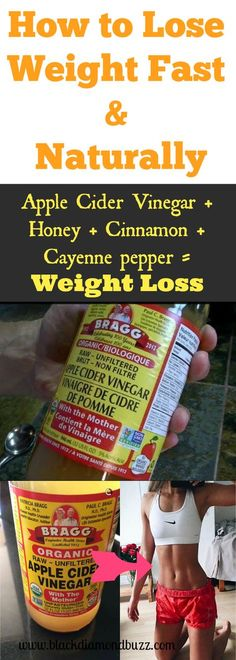 How to Lose Weight Fast and Naturally with Apple Cider Vinegar + Honey + Cinnamo. How to Lose Weight Fast and Naturally with Apple Cider Vinegar + Honey + Cinnamon + Cayenne pepper Lose Weight Naturally, Diet Plans To Lose Weight, Losing Weight Tips, Fast Weight Loss, How To Lose Weight Fast, Fat Fast, Lose Fat, Braggs Apple Cider, Apple Cider Vinegar