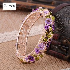 Jewelry OFF! Online Shop Vintage Chinese Cloisonne Bracelets Jewelry Gold Plated Hollow Crystal Rhinestone Flower Enamel Bangle for Women Womens Jewelry Rings, Cute Jewelry, Wedding Jewelry, Silver Jewelry, Jewelry Accessories, Jewelry Design, Jewelry Bracelets, Jewelry Trends, Women Jewelry