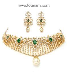 Buy 18K Gold Choker Diamond Necklace