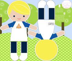 Blonde Boy Action Figure fabric by natitys on Spoonflower - custom fabric