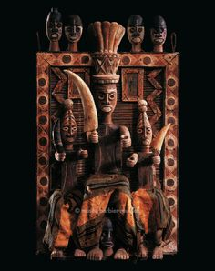 Ancestral Screen duein fubara Nigeria Kalabari Ijaw 19th century Wood, raffia, paint and textile H.: 140 cm The impact of African art on that of the West has been obsessively documented while the effect of Western forms of representation on Africa has only recently become a matter of interest. - African Sculptures - Les Musées Barbier-Mueller