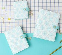 Dokibook Mint & White Snowflake Planner Organizer A5 A6 A7 FREE SHIPPING    eBay