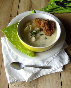 Babette: Medvehagymás burgonyafőzelék Cheeseburger Chowder, Thai Red Curry, Lunch, Ethnic Recipes, Soups, Food, Eat Lunch, Essen, Soup