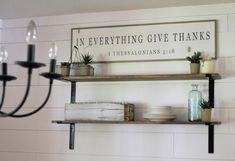 IN EVERYTHING give thanks 1'X4' sign   distressed shabby chic wooden sign   painted farmhouse inspired wall art   I Thessalonians 5:18 by ThePeddlersShed on Etsy
