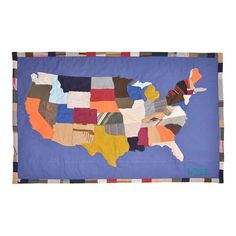 Adorned+with+the+United+States+map,+thistimeless+wool+and+cotton+throw+is+stylish+draped+over+your+sofa+or+at+the+foot+of+your+bed.  Pro...