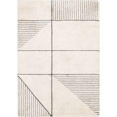 Tapis écru motifs gris 120X170cm-FIDJI Decoration, Rugs On Carpet, Carpets, Modern Decor, New Homes, Home Decor, Salon Design, Styles, Interiors