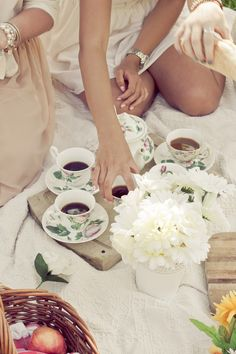 Outdoors tea party
