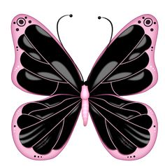 Nail Art Accessories 20 Water Slide Nail Art Decals Black And Light Pink Butterfly Th Inch Butterfly Clip Art, Butterfly Images, Butterfly Drawing, Butterfly Painting, Butterfly Wallpaper, Pink Butterfly, Art Papillon, Beautiful Butterflies, Clipart
