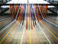 Colorful Geometric Tape Art | Jeannie Huang
