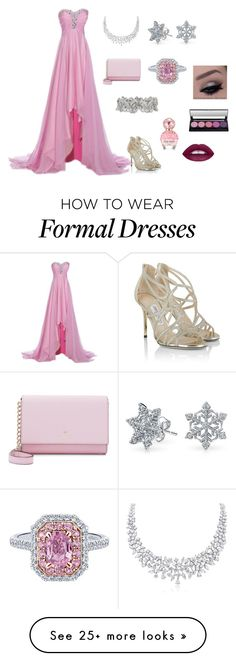 """""""Pretty pink"""" by coolfashion07 on Polyvore featuring Jimmy Choo, Kate Spade, Bling Jewelry and Marc Jacobs Gala Dresses, Homecoming Dresses, Dress Outfits, Formal Dresses, Princess Star, Disney Princess, Beautiful Clothes, Beautiful Dresses, Prom Photos"""