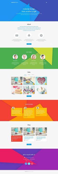 Template 53677 - Material Theme Responsive WordPress Theme