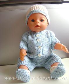 Мобильный LiveInternet Летний костюмчик спицами(комбинезон,шапочка, пинетки) для куклы Беби Борн. | BelayaLiliya - Творческий мир BelayaLiliya |
