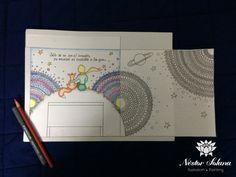 Proyección para mural: El principito Lápices de colores y estilógrafos