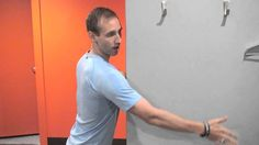 For postural improvement of rounded shoulders, grab a softball, tennis, or lacrosse ball and try this move. Lacrosse, Softball, Shoulder Problem, Shoulder Stretches, Fastpitch Softball, Girls Softball