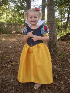 Customized Oliver + S Fairy Tale Dress into a Snow White dress