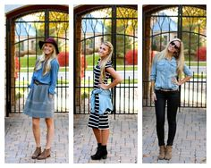 Salty Blondes//Three ways to wear that versatile chambray shirt we all love!