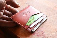 pouzdro pro karty a vizitky z kuze