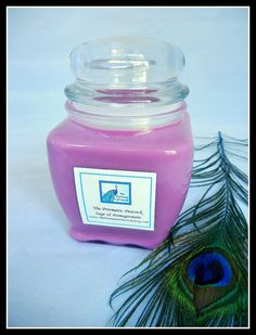 Sage & Pomegranate Scented Soy Candle 20oz by theprismaticpeacock, $25.00. Sage & Pomegranate is a vibrant green floral fragrance with botanical sage, sweet pomegranate, and tropical ferns. It is a fresh, clean scent that catches you by surprise and has you coming back for a second whiff. This phthalate free fragrance oil is infused with natural essential oils. This scent is also a fan favorite fragrance in our natural bar soaps!
