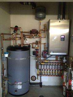 Boiler service Vancouver Pex Plumbing, Heating And Plumbing, Plumbing Fixtures, Hydronic Radiant Floor Heating, Hydronic Heating, Mechanical Room, Plumbing Installation, Radiant Heat, Pipe Furniture