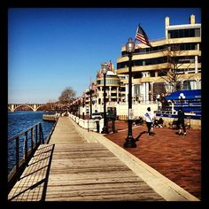 A beautiful day at Washington Harbour in Georgetown #DC @Georgetown BID