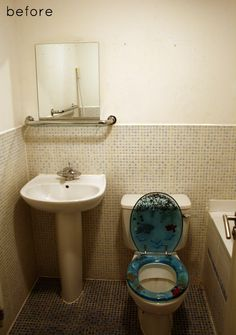 So funny how the 'before' shot in this make-over got the most comments... people just love a wacky loo...