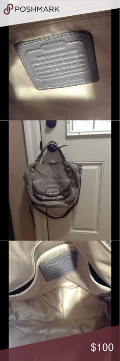 Great deal! Coach Kristin satchel! Convertible Kristin satchel! Great condition on the outside. Small pen mark on outside that can easily be cleaned. Lining with normal wear stains, can be cleaned Bags Satchels