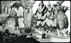 Giants of Gladsheim (Stephen Fabian, AD&D Manual of the Planes, TSR, 1987)