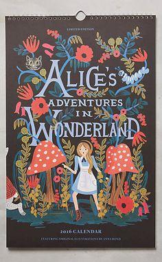 Alice's Adventures In Wonderland 2016 Calendar #anthrofave