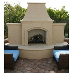 Have to have it. American Fyre Designs Grand Phoenix Outdoor Fireplace - $7780 @hayneedle